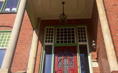 Restauratie en nieuw vervaardigde ramen Jugendstil - Villa Nieuw Berta