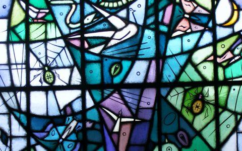 Restauratie glas-in-lood raam: De Levensboom van Riemko Holtrop