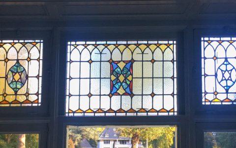 Restauratie glas-in-lood Landhuis Het Welna te Enschede, 1906